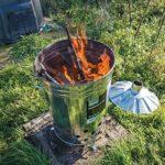 Bidone inceneritore da giardino